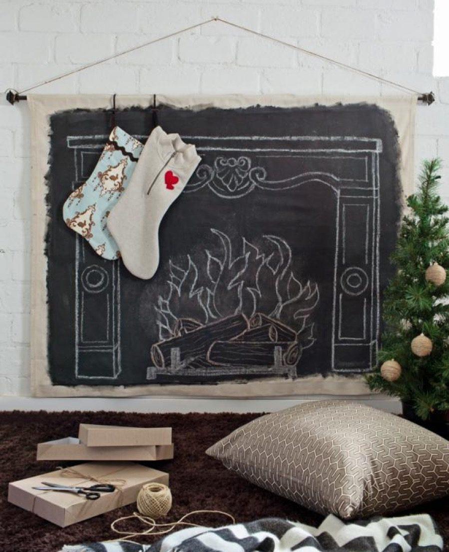 roaring fireplace diy christmas decorations