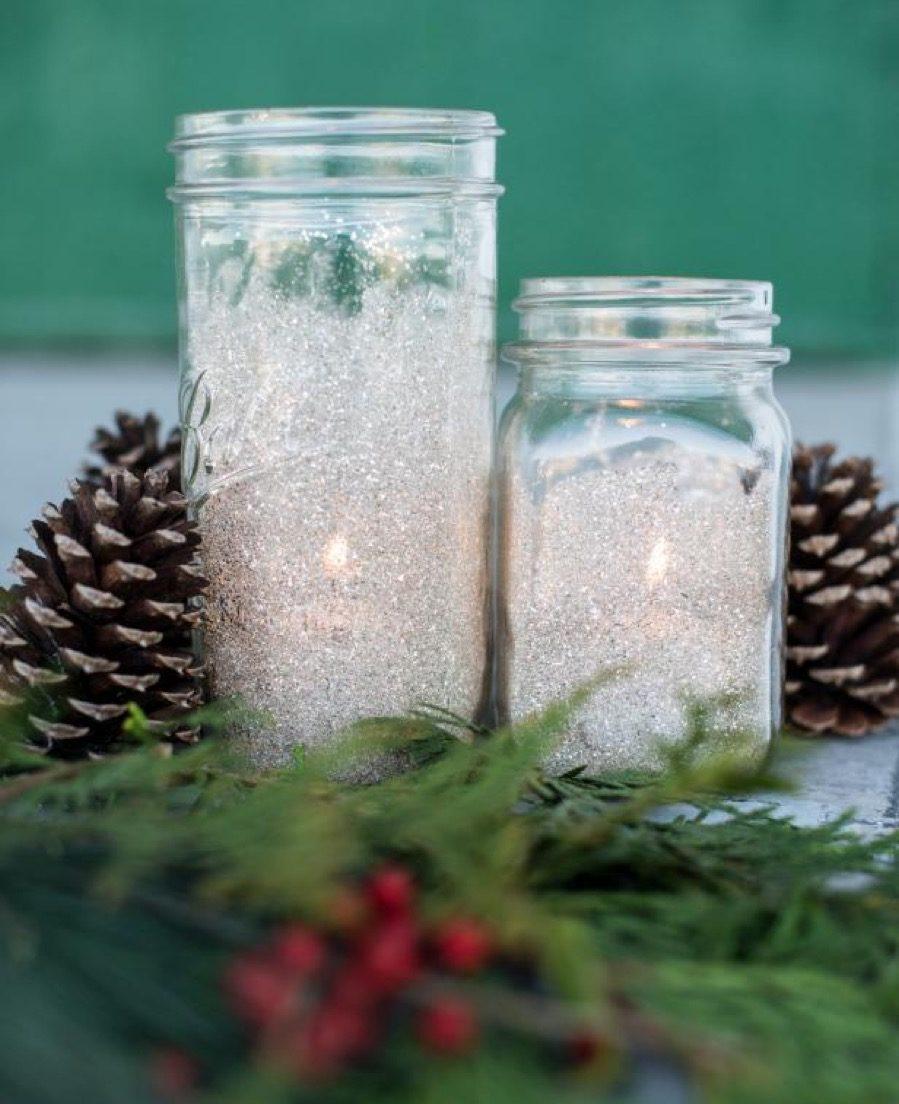 Sparking votives diy christmas decorations