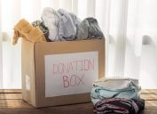 Box of Old Clothes for Donation {Free Acts of Kindness}