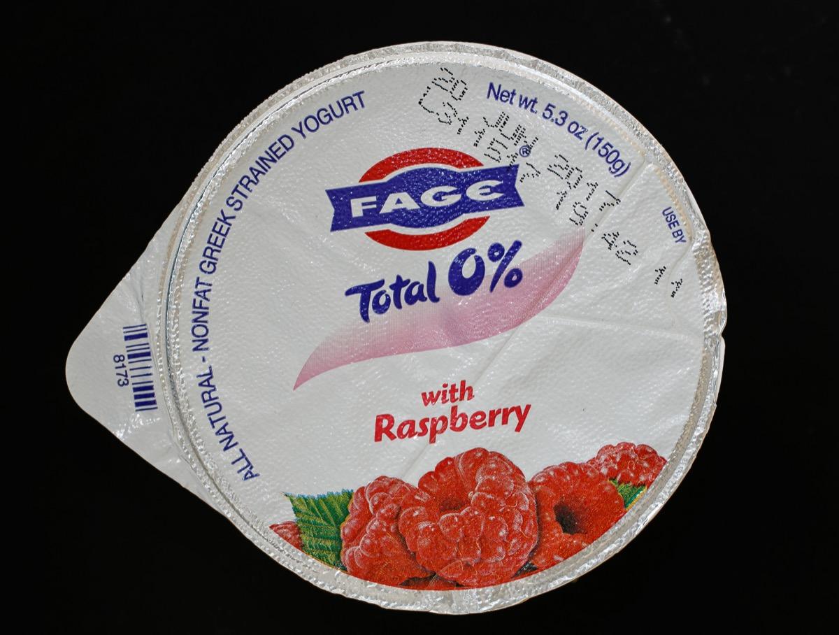 a package of raspberry sage yogurt