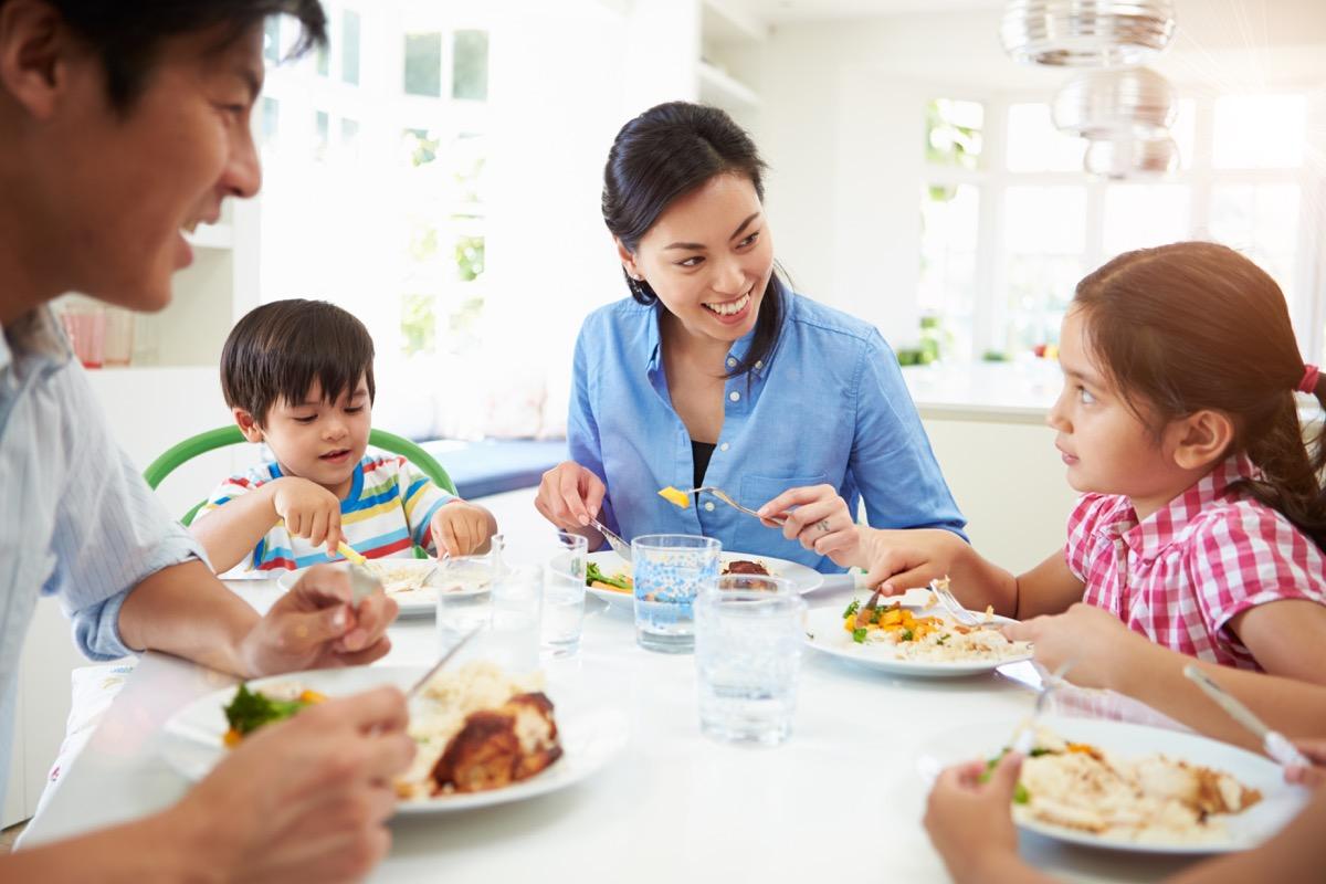 Family Having Dinner {Weight Loss Secrets}
