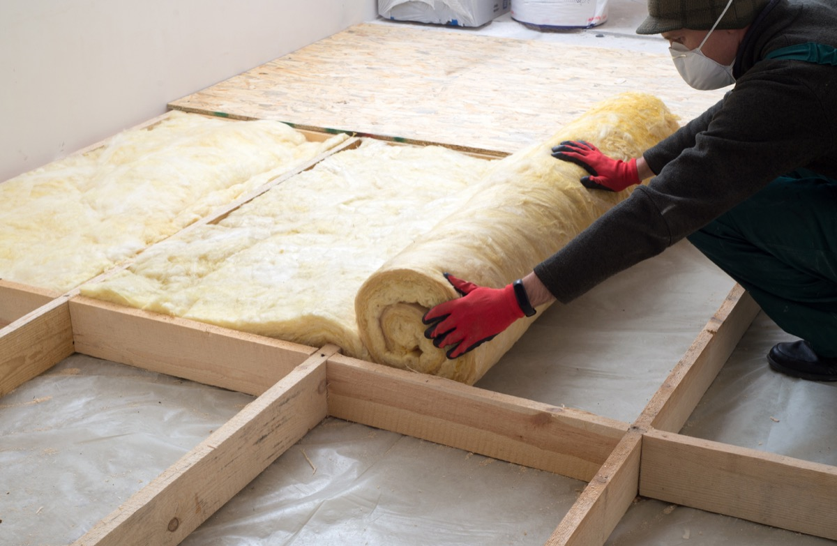 Insulation on the Attic Floor {How to Winterize a Home}