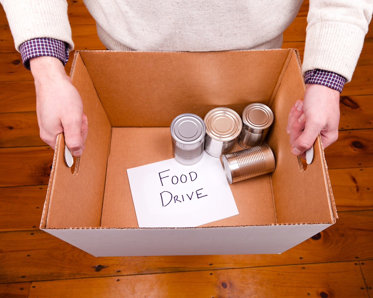 Canned food for food drive