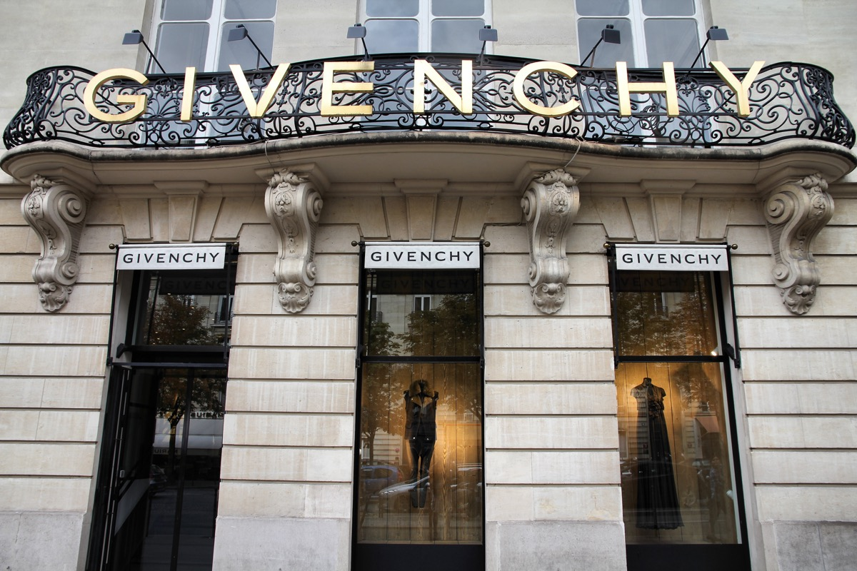 """""""Paris, France - July 21, 2011: Givenchy company headquarters and store on July 21, 2011 in Paris, France. Givenchy is a luxury brand owned by French conglomerate LVMH with $20.32bn EUR revenue for 2010."""""""