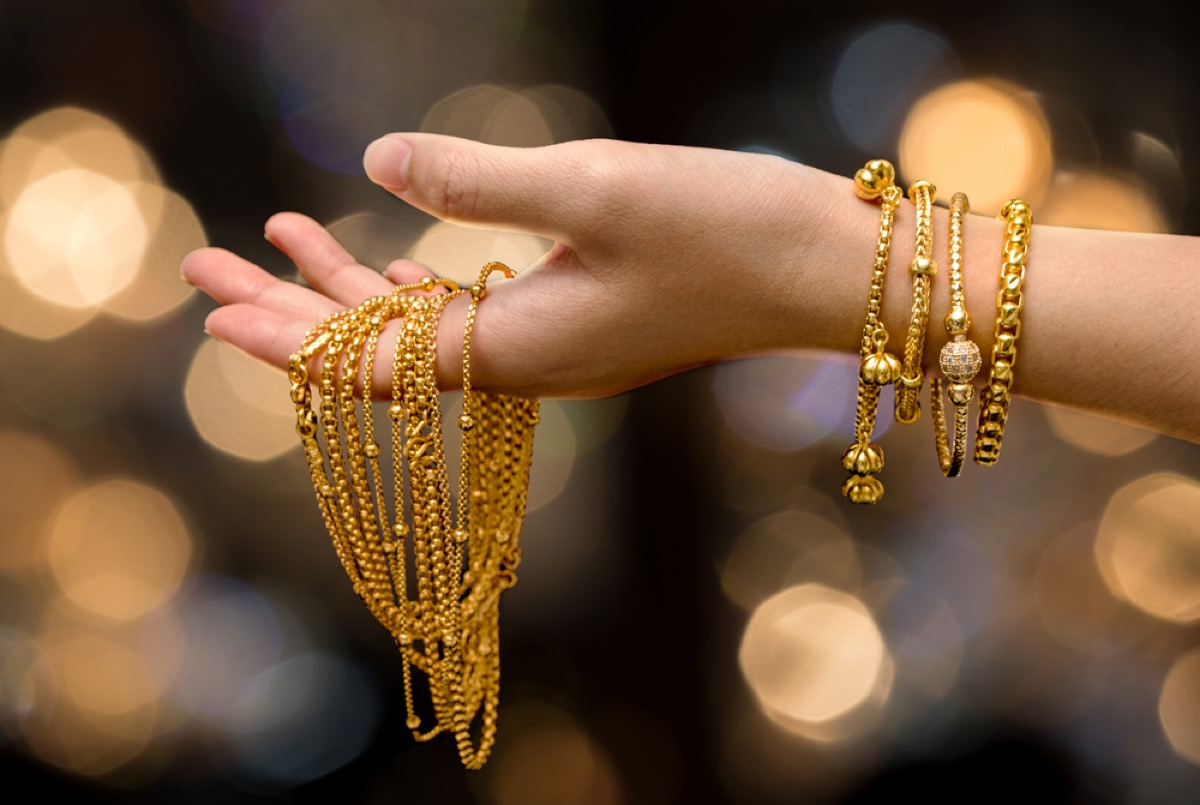 Woman Holding Jewelry {Never Buy at Walmart}