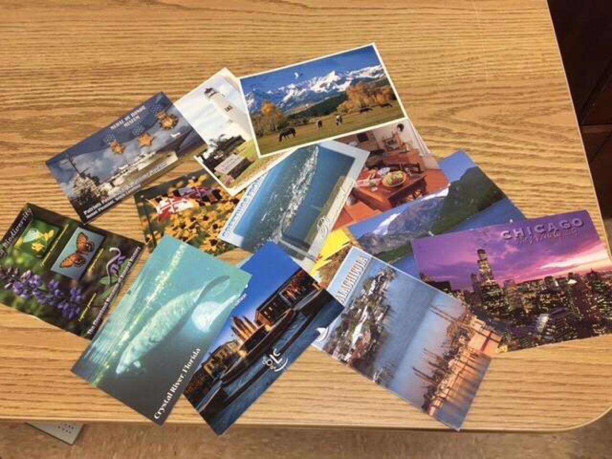 Postcards elderly home
