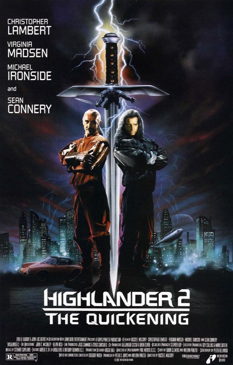 Highlander 2 Movie Poster {Happy Alternate Movie Endings}