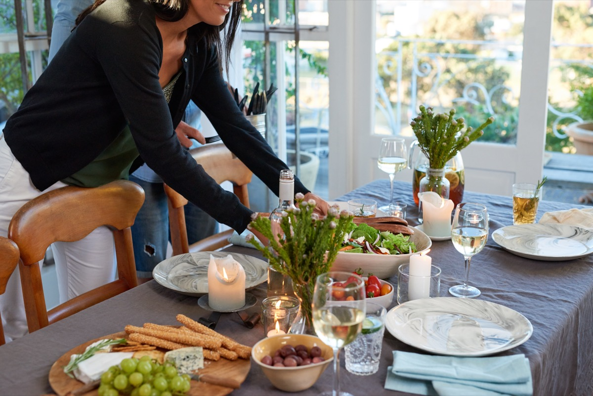Woman Hosting a Dinner Party {Holiday Depression}