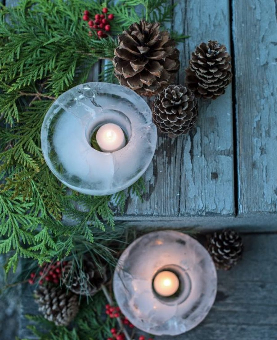 Ice Lanterns diy christmas decorations