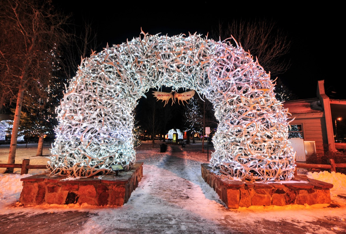 Jackson Hole, Wyoming Christmas towns in America