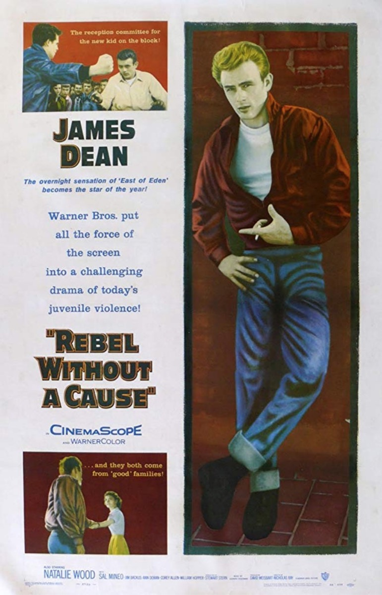 rebel without a cause poster, amazing coincidences