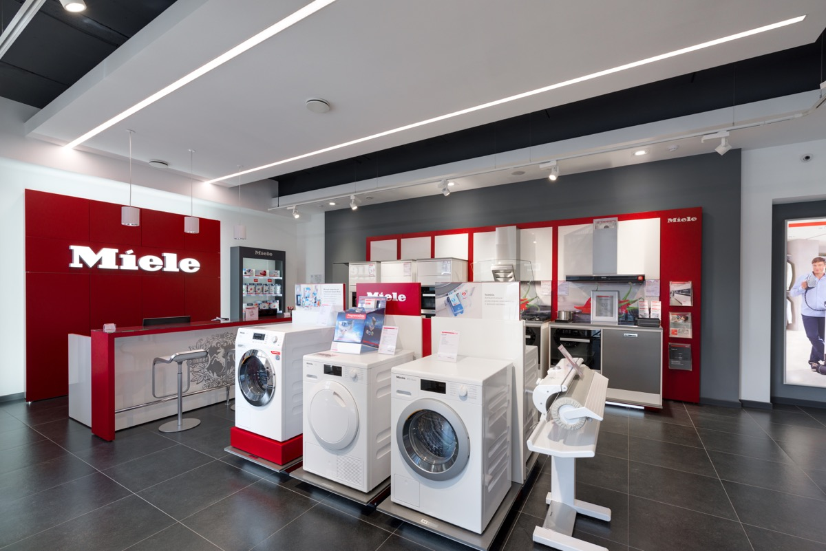 Miele store with appliances in it