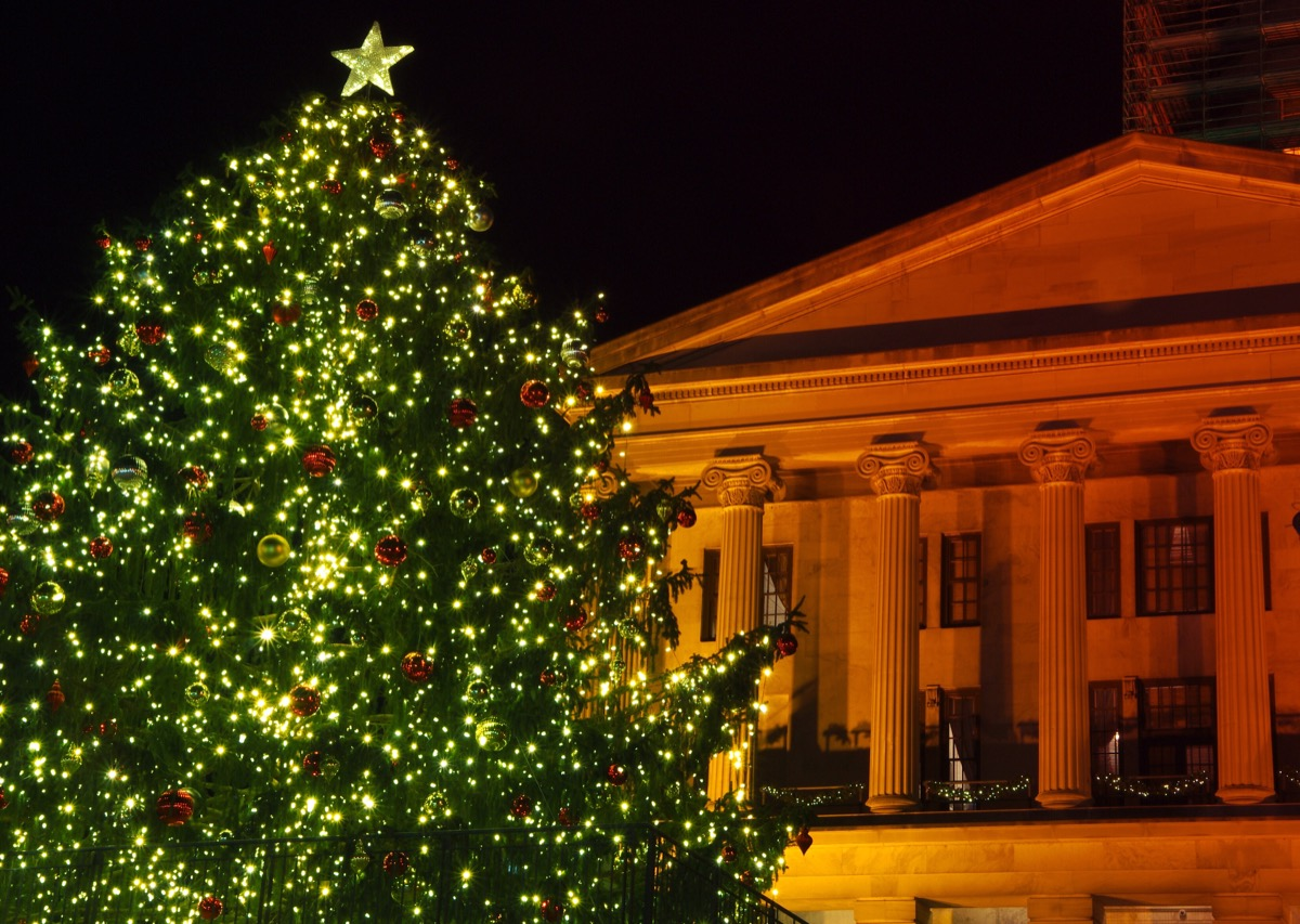 Nashville Tennessee State Christmas Tree