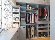 organized closet in modern home