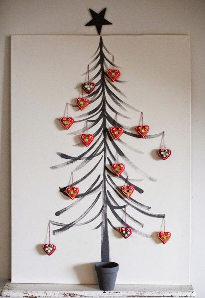 Painted Christmas Tree {Christmas Tree Alternatives}