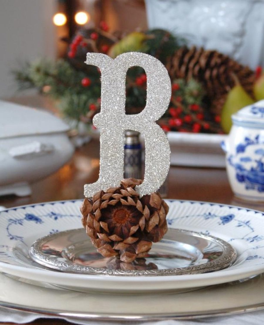 Personalized holiday place cards diy christmas decorations
