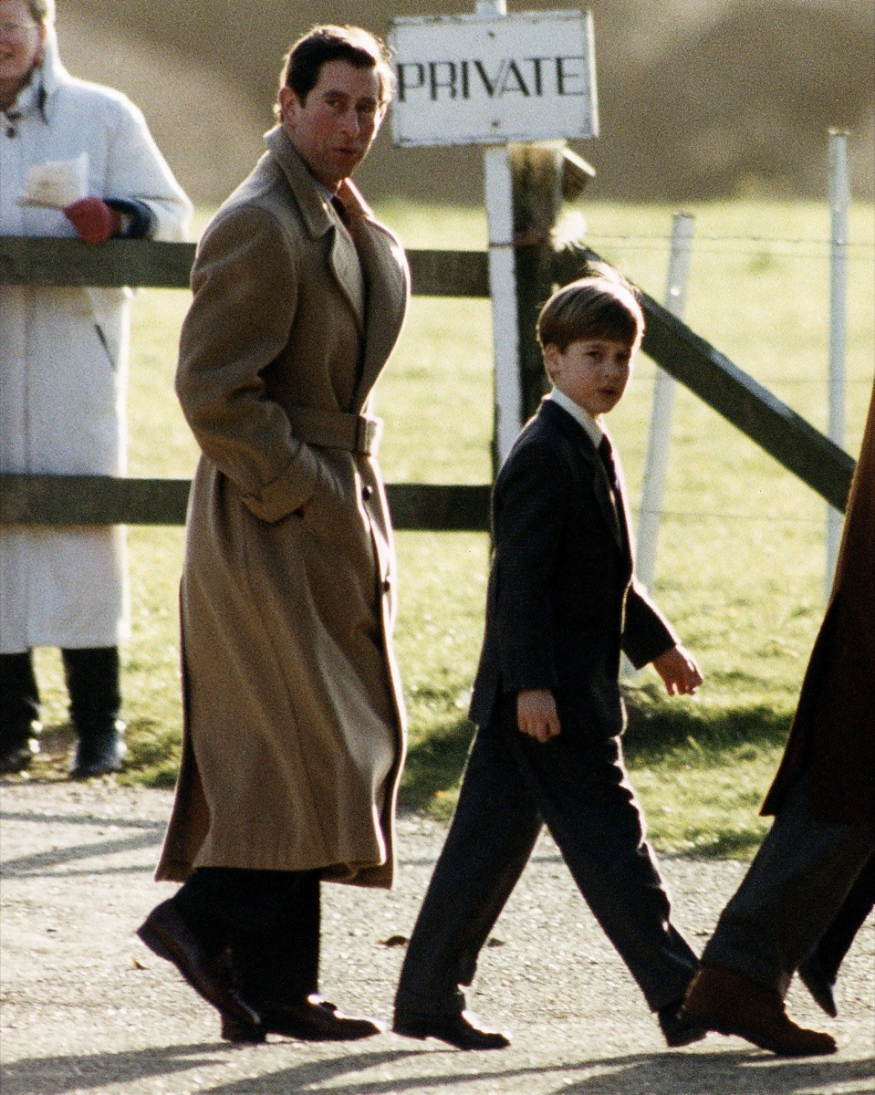 Prince charles and prince william at sandringham