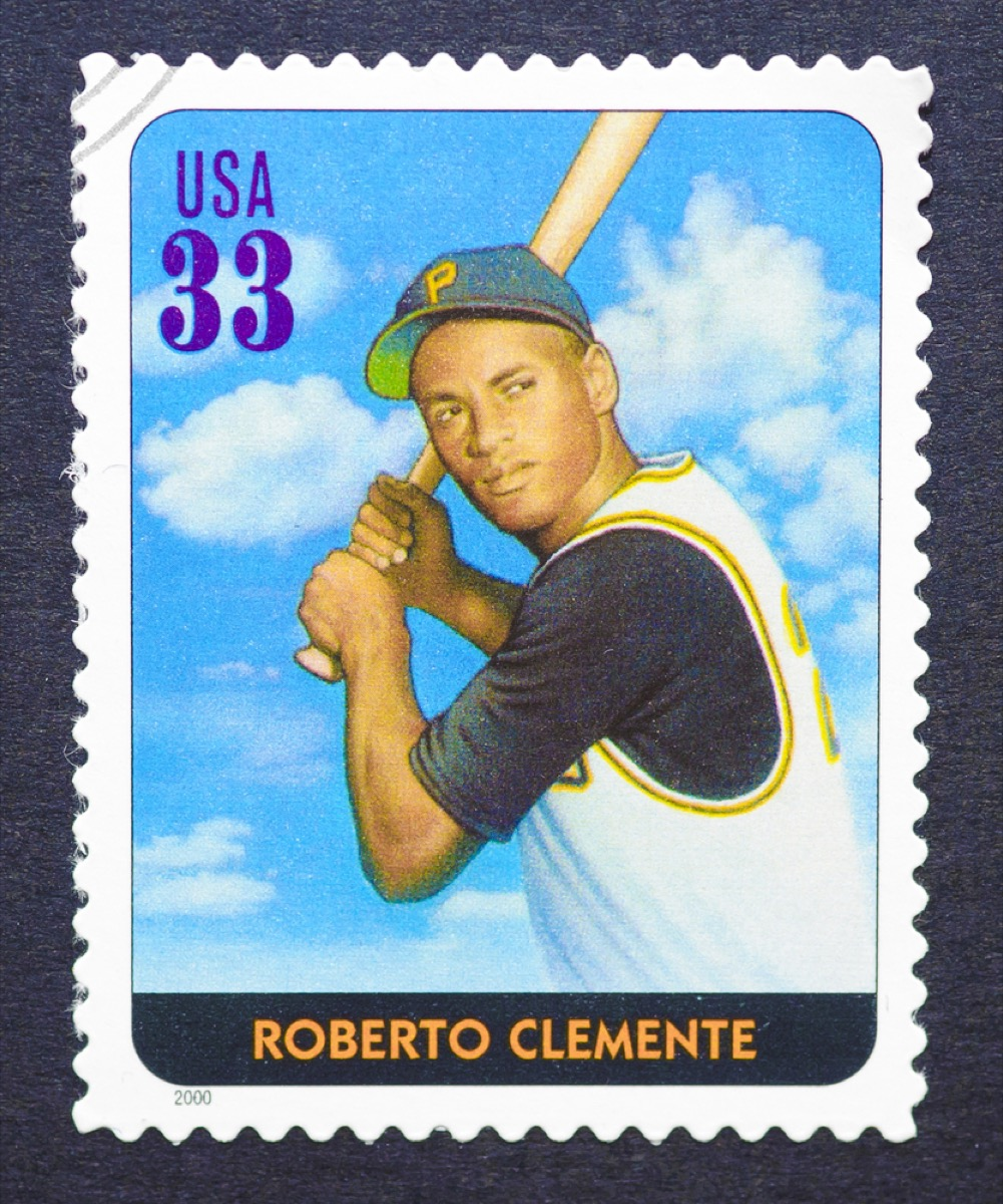 roberto clemente stamp, amazing coincidences