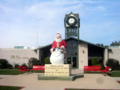 Santa Claus, Indiana Christmas towns in America
