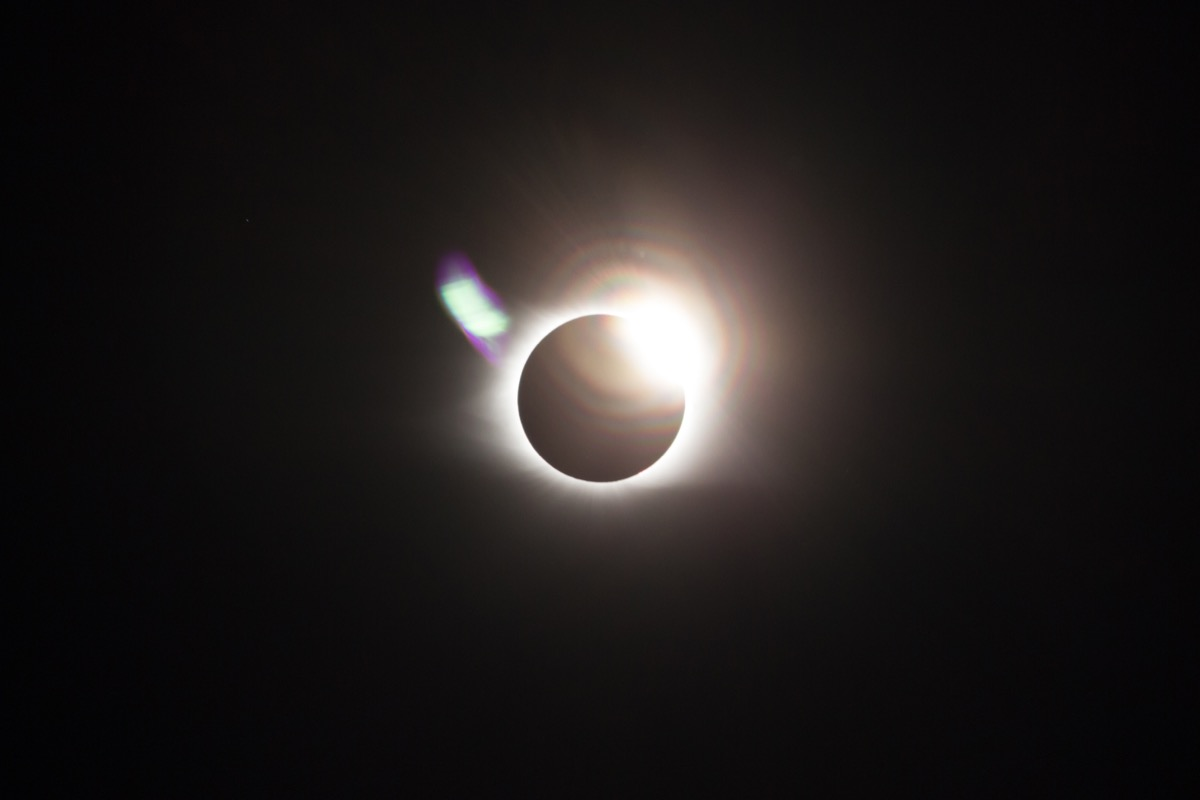 solar eclipse at totality