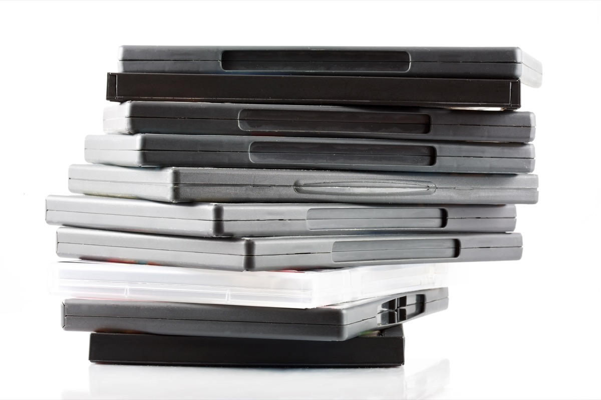 Stack of dvds boring holiday gifts