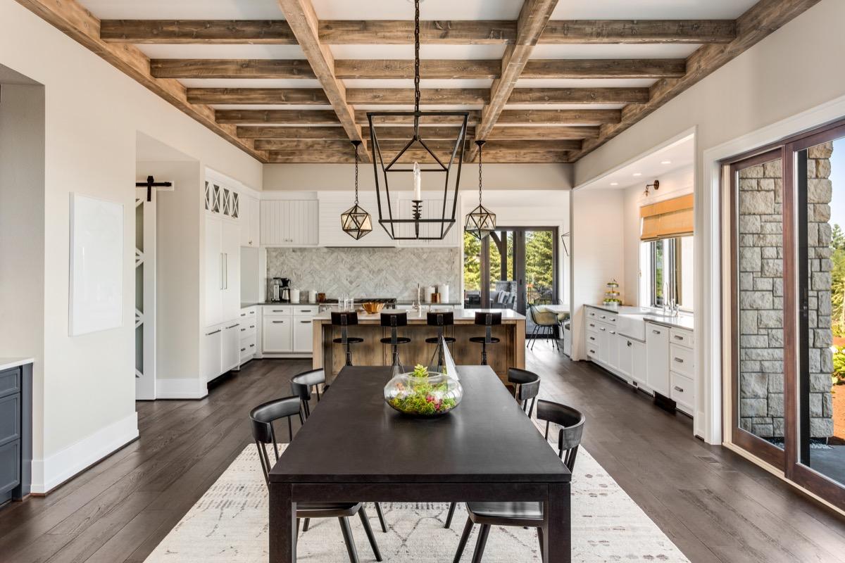 ceiling beams celebrity home design tricks