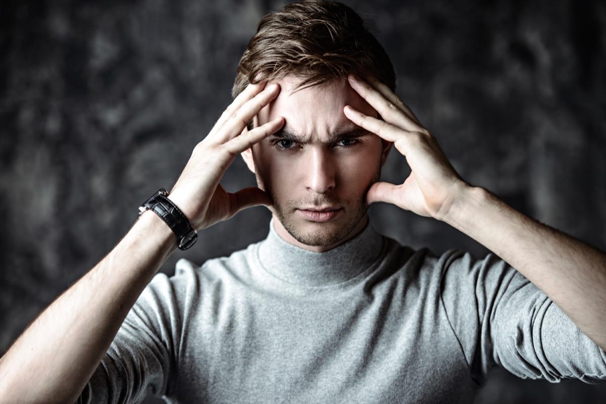 man attempting telepathy, 2020 predictions