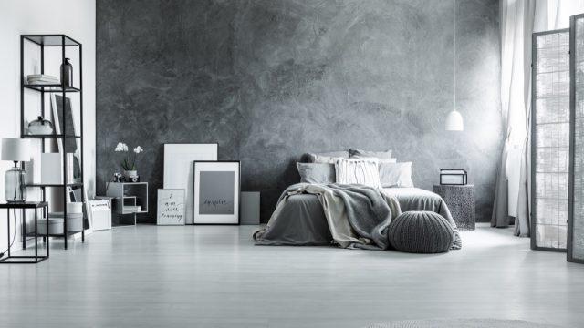 Textured Wall in Bedroom - interior designers