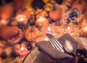 American thanksgiving dinner spread