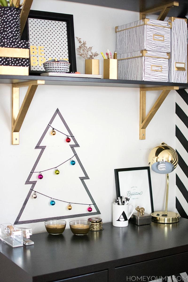 Washi Tape Christmas Tree {Christmas Tree Alternatives}