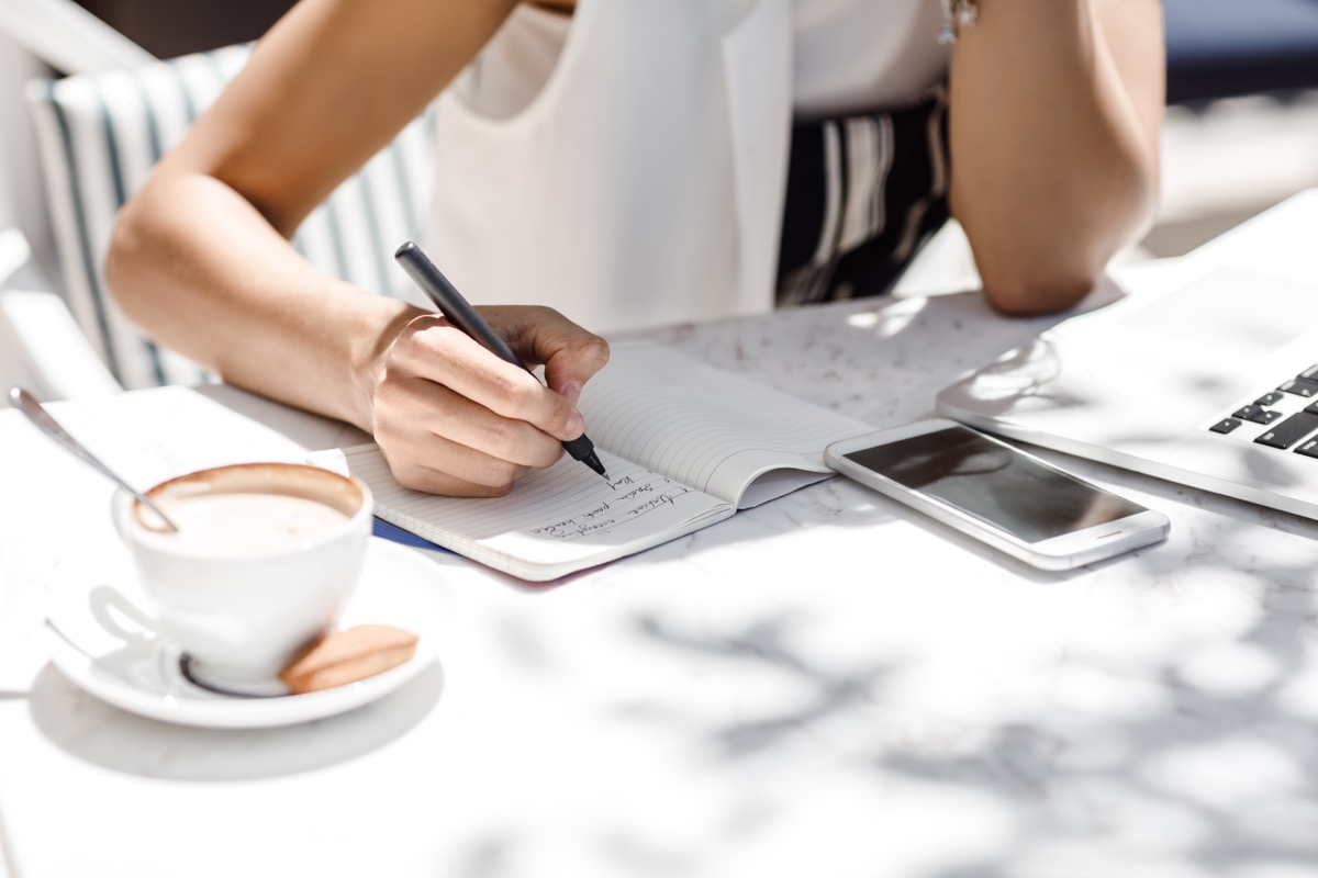 Woman Writing Notes, better wife after 40