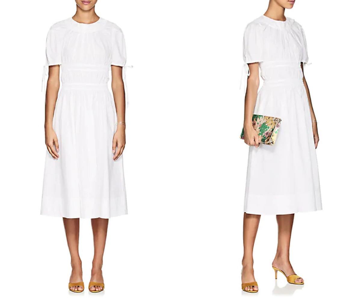 Brock Poplin White Dress buy after holidays