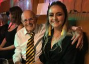 jennifer barclay with her grandfather, Robert