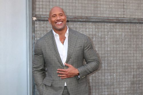 """Dwayne Johnson at the premiere of """"Rampage"""" in April 2018"""