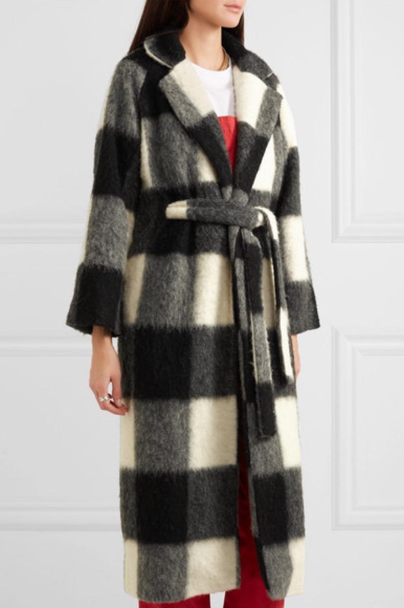 Ganni McKinney Checkered Coat buy after holidays