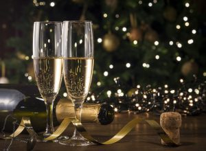 New Year's Eve champagne flutes