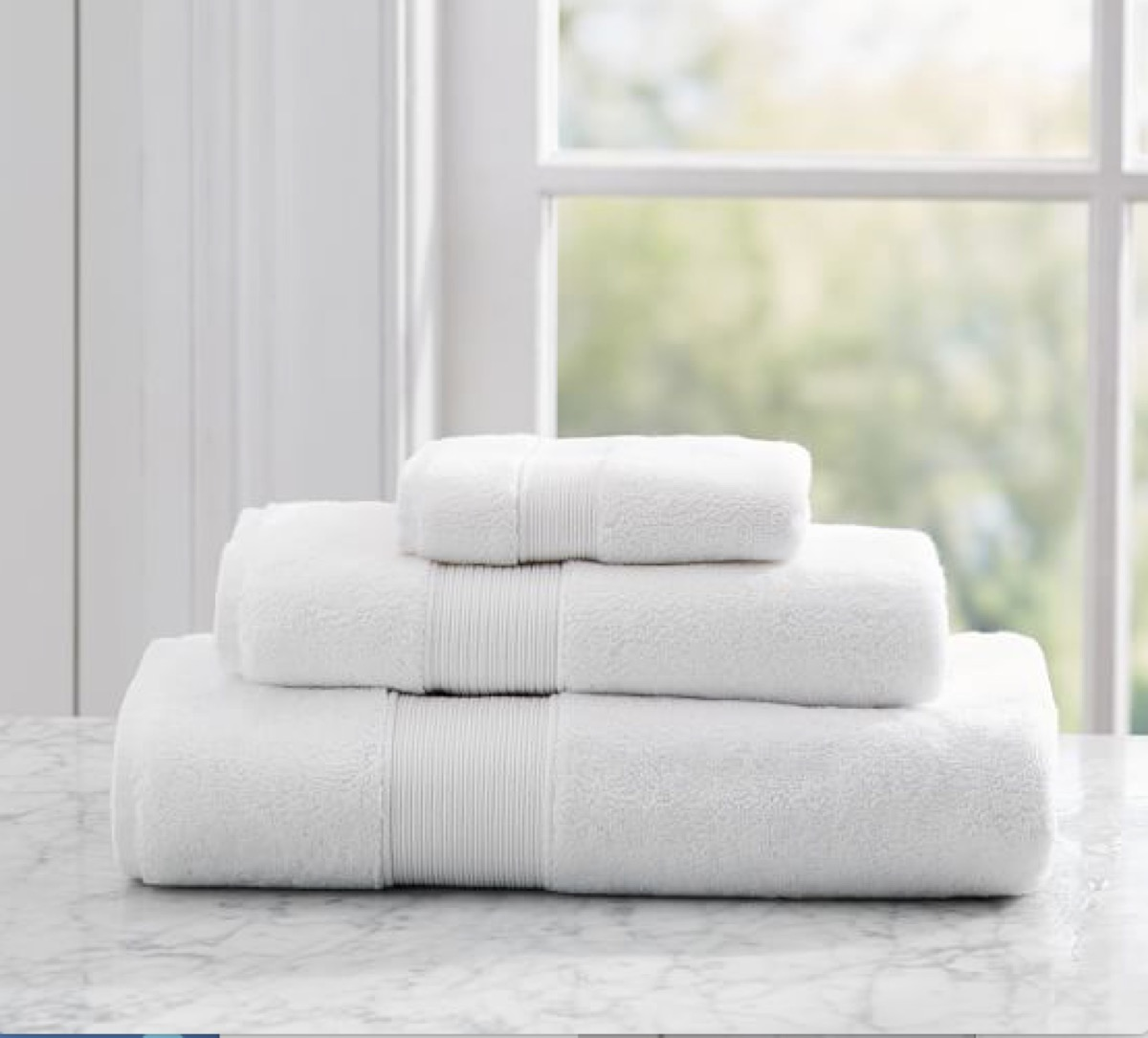 Pottery Barn White Towels buy after holidays