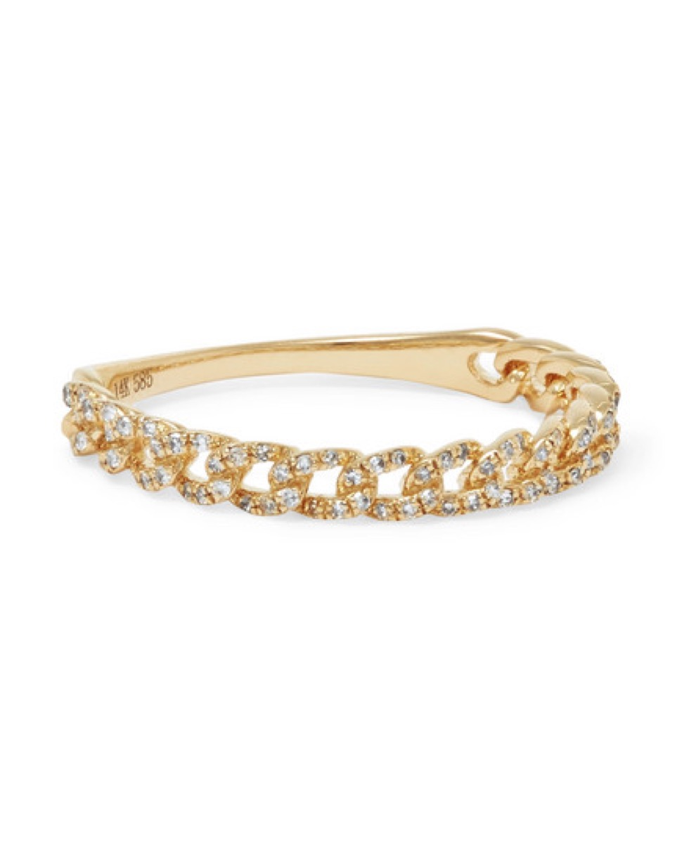 Stone and Strand Diamond Chain Ring buy after holidays