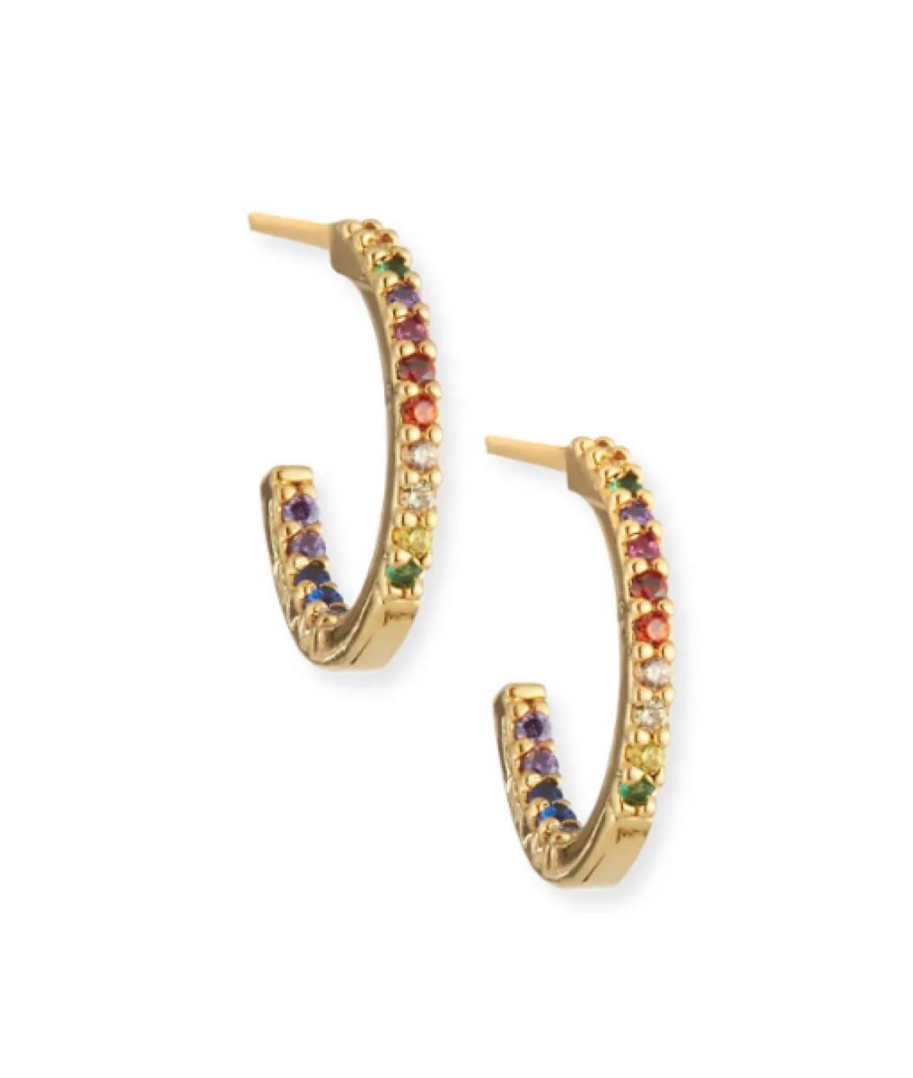 TRai Rainbow Hoop Earrings buy after holidays