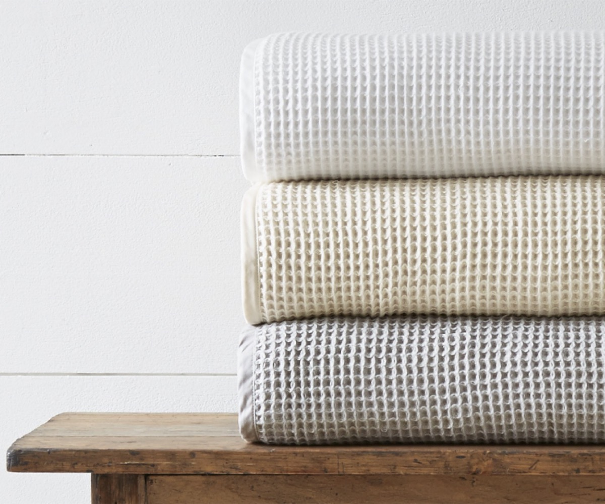 Boll and Branch Waffle Blanket Stack buy after holidays