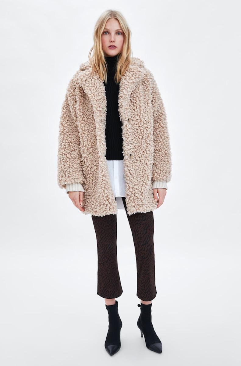 Zara Faux Fur Coat buy after holidays
