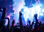 young people attending an edm show
