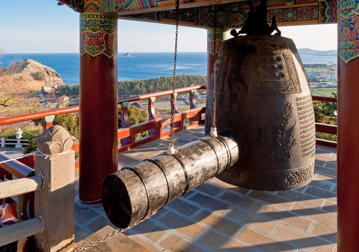 Monastery bell at a Buddhist temple
