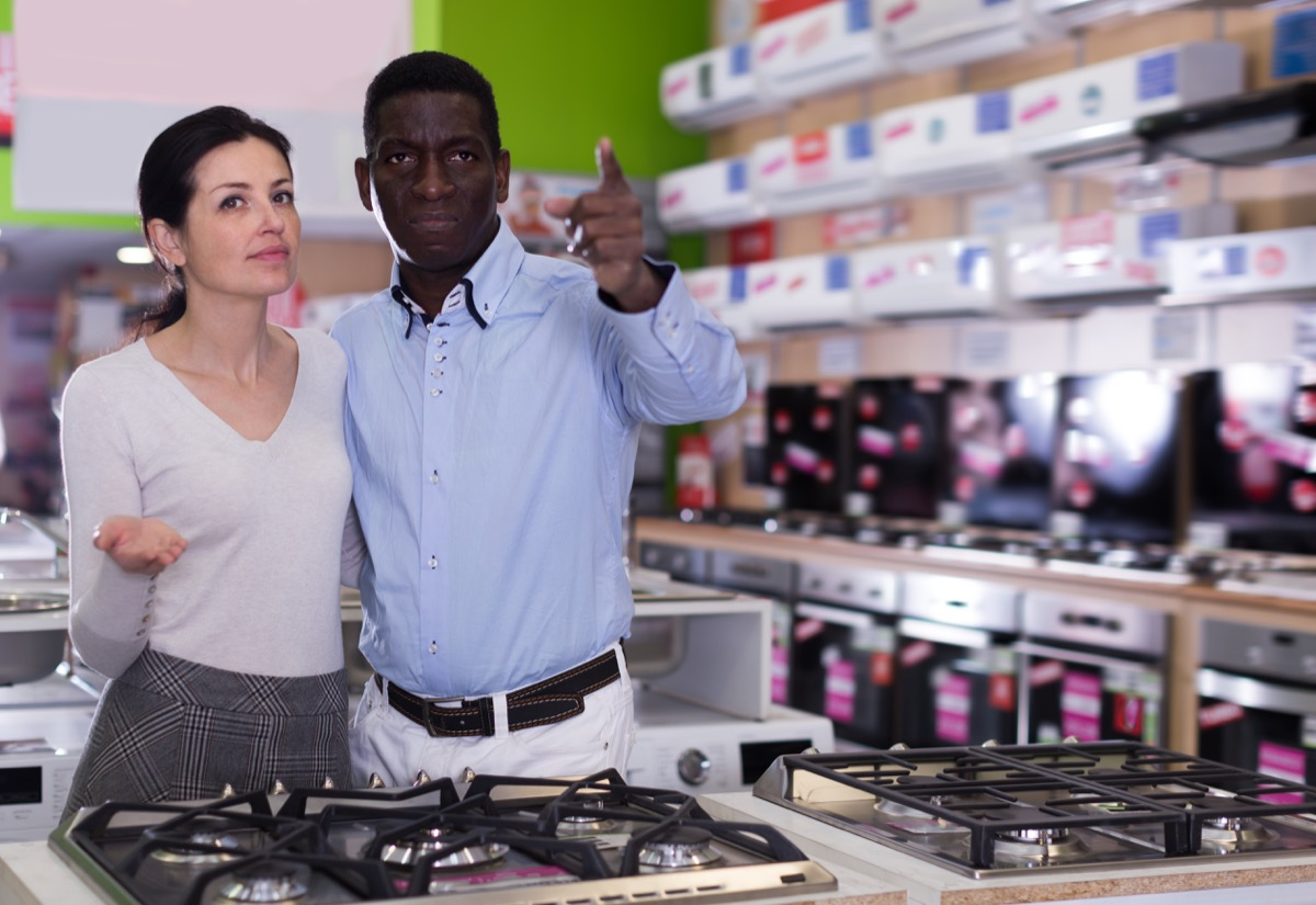 Couple shopping for kitchen appliances Things you should never buy at target