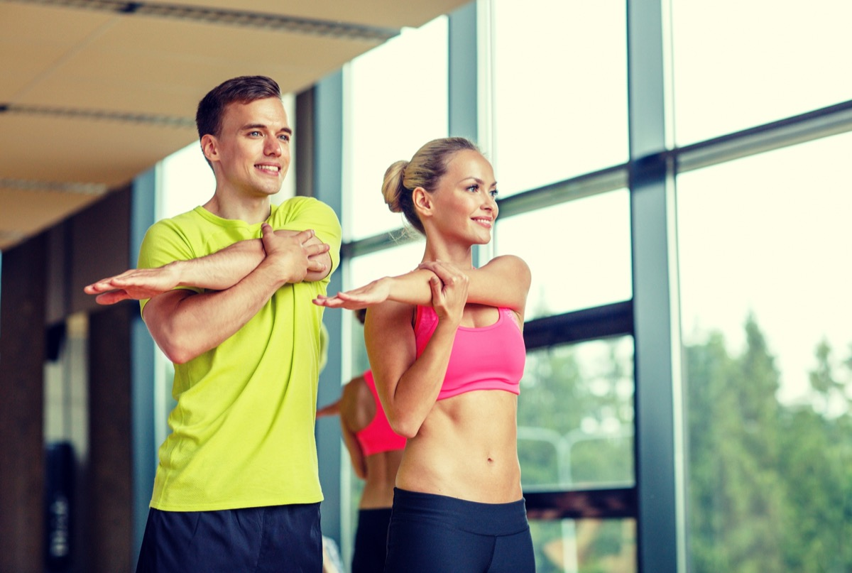 Couple Doing Stretches life changes after marriage