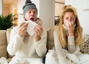 Couple Sick with the Flu {Surprising Flu Symptoms}