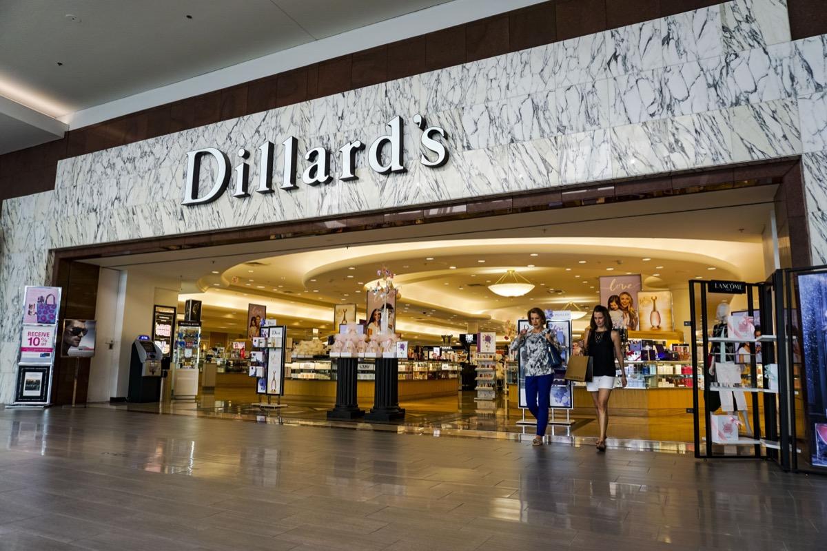dillard's store in a mall