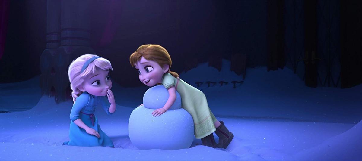 disney frozen scene with anna and elsa
