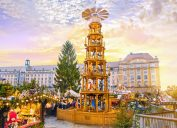 dresden christmas market at day