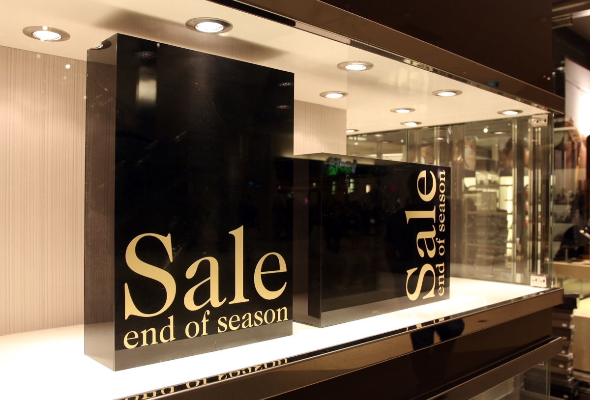 Sign For End Of Season Sale {Smart Shopping Habits}